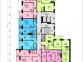 Планировки квартир, 12 этаж