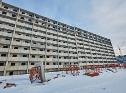 Дом № 37. Ведется монтаж  9-го этажа.